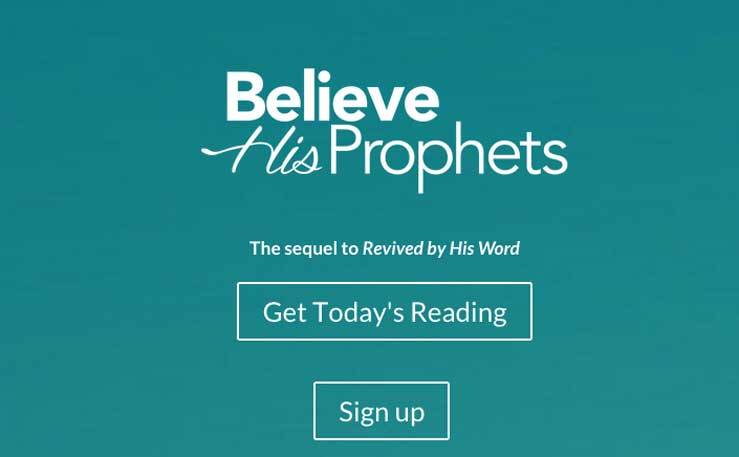Believe His Prophets
